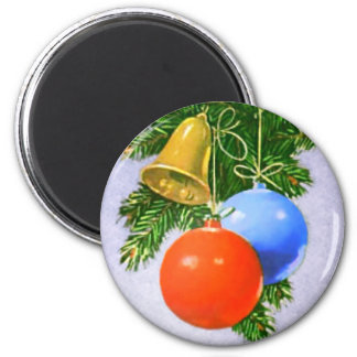 Christmas Tree Ornaments Design Magnets