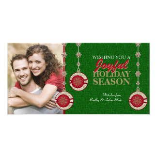 Christmas Tree Ornaments Holiday Photo Cards