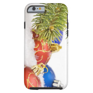 Christmas Tree Ornaments In Snow Tough iPhone 6 Case