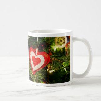 Christmas tree ornaments basic white mug