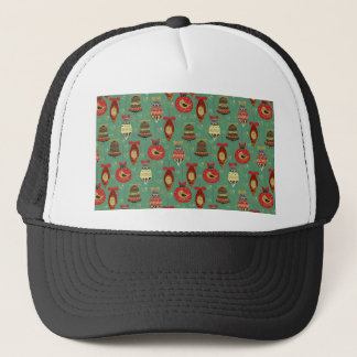 Christmas Tree Ornaments Pattern Trucker Hat