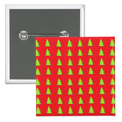 Christmas Tree Pattern Buttons