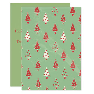 Christmas Tree Pattern Card