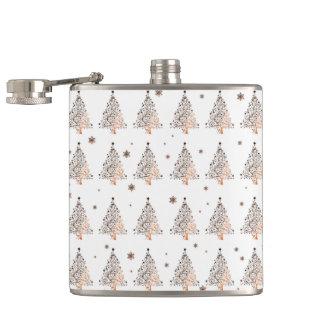 Christmas tree - pattern hip flask