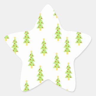 christmas tree pattern mid century modern vintage star sticker