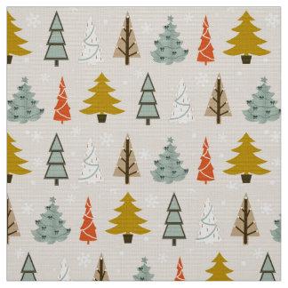 Christmas Tree Pattern Modern ID175 Fabric