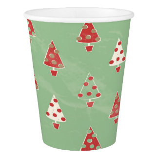 Christmas Tree Pattern Paper Cup