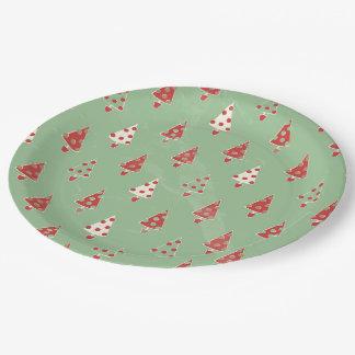 Christmas Tree Pattern Paper Plate