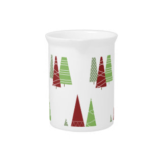 Christmas Tree Pattern Pitcher