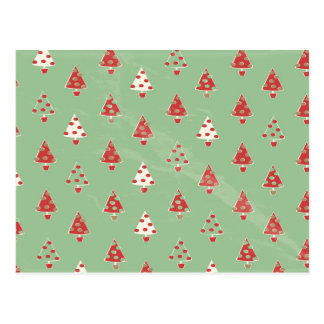 Christmas Tree Pattern Postcard