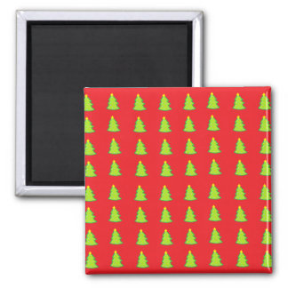 Christmas Tree Pattern Square Magnet