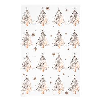 Christmas tree - pattern stationery