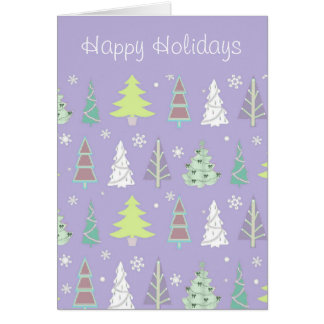 Christmas Tree Pattern Violet and Lime ID175 Card