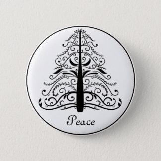 Christmas Tree Peace 6 Cm Round Badge