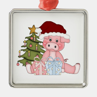 Christmas Tree Pig Ornament