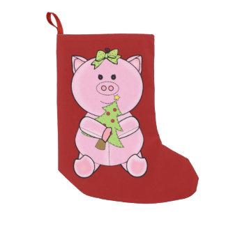 Christmas Tree Pig Stocking