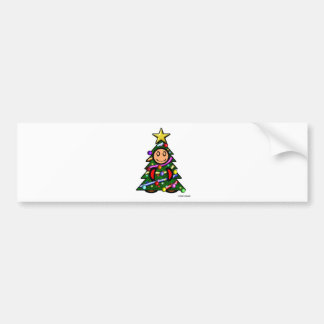 Christmas Tree (plain) Bumper Stickers