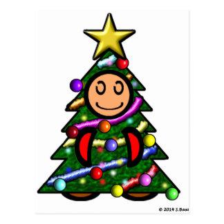 Christmas Tree (plain) Post Card