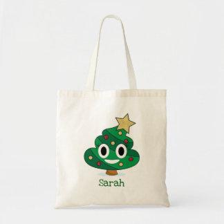 Christmas Tree Poop Emoji Tote Bag