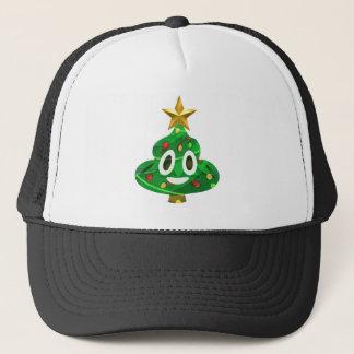 Christmas Tree Poop Emoji Trucker Hat