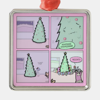 Christmas Tree Pooping Metal Ornament