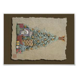 Christmas Tree & Presents Photo Art