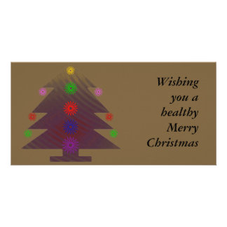 Christmas Tree - Purple decorated Picture Card