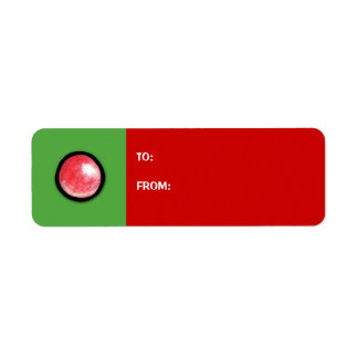 Christmas Tree red2 ornament Gift Tag Label Return Address Label