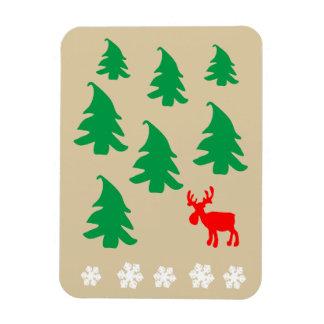 Christmas tree, reindeer, snowflake vinyl magnet