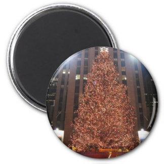 Christmas Tree Rockefeller Center 6 Cm Round Magnet