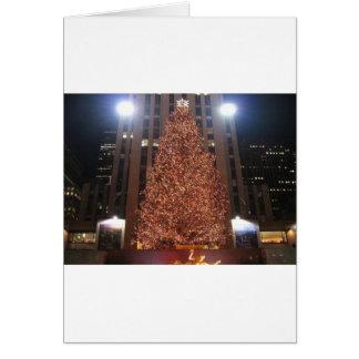 Christmas Tree Rockefeller Center Greeting Card