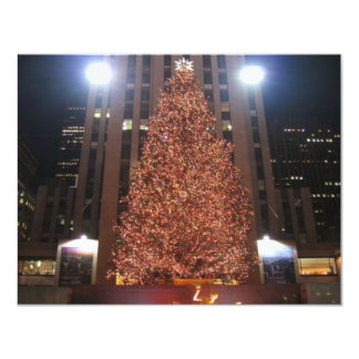 Christmas Tree Rockefeller Center Custom Invitations