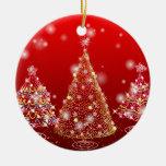 Christmas tree round ceramic decoration