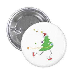 Christmas Tree Runner 3 Cm Round Badge