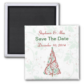 Christmas Tree Save The Date Magnet