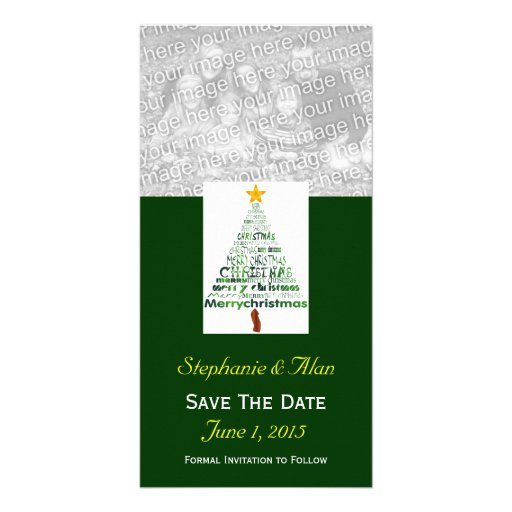 Christmas Tree Save The Date PhotoCards Photo Card