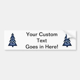 Christmas Tree Sectional call ornament 3 dk blue.p Bumper Sticker