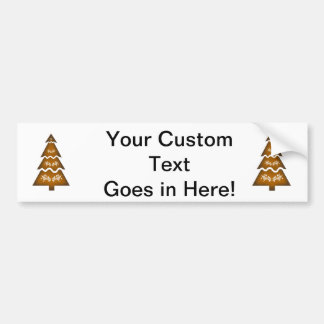 Christmas Tree Sectional call ornament 3 orange.pn Bumper Sticker