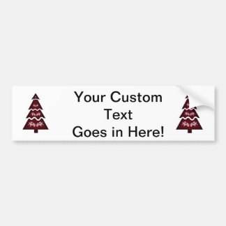 Christmas Tree Sectional call ornament 3 red.png Bumper Sticker