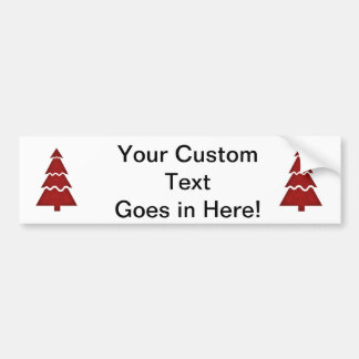 Christmas Tree Sectional with call ornament red.pn Car Bumper Sticker