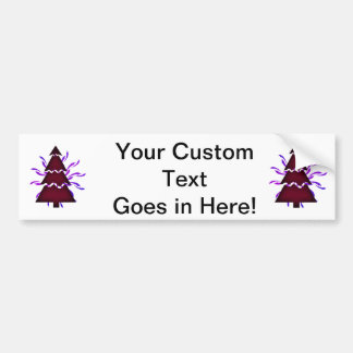 Christmas tree sectional with yellow waves purple. bumper sticker