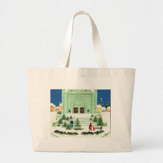 Christmas Tree Selling 1988 Large Tote Bag