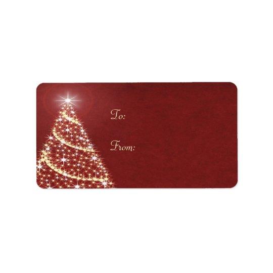 Christmas Tree Shimmer Address Label