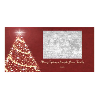 Christmas Tree Shimmer Photo Cards