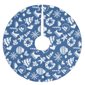 Christmas Tree Skirt - Blue Christmas Designs Brushed Polyester Tree Skirt