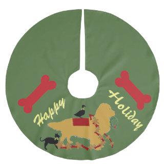 Christmas Tree Skirt~ Golden Retriever Brushed Polyester Tree Skirt