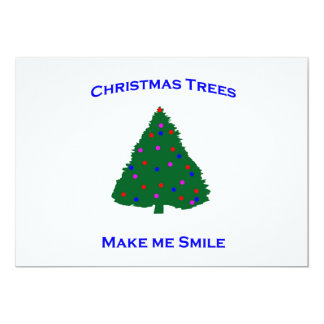 Christmas Tree Smiles 13 Cm X 18 Cm Invitation Card