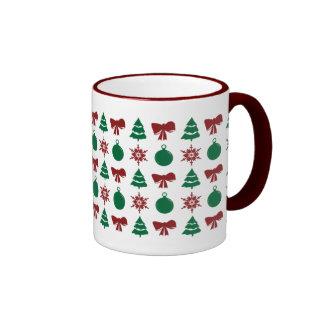 Christmas Tree Snow Bulb Bow Holiday Mug