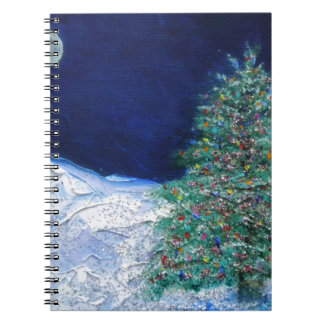 christmas tree spiral note book