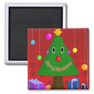 Christmas Tree Square Magnet